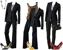 ladies black blazers