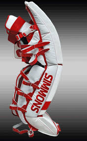 simmons goalie pads