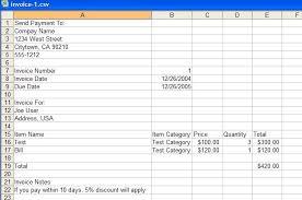 invoice export