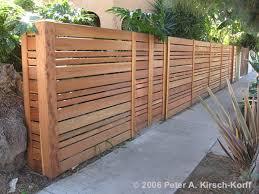 modern garden fencing