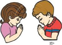 children praying clip art