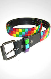 colored studded belts