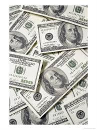 100 hundred dollar bills