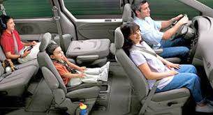 minivan interior