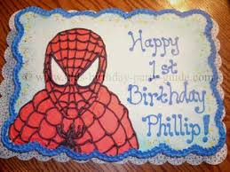 spiderman cake design