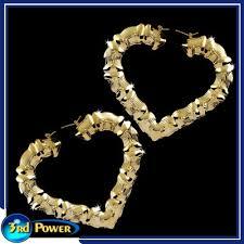 gold door knocker earrings