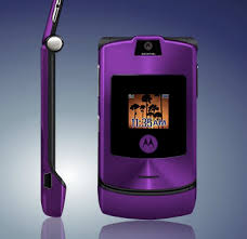 purple razr phone