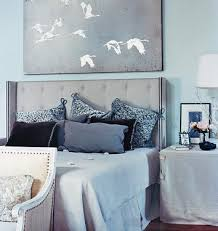blue gray bedroom