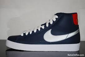 navy blue nike blazers
