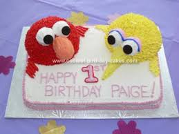 big bird birthday cake