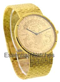 gold coin watches