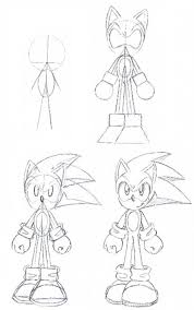 drawing of sonic