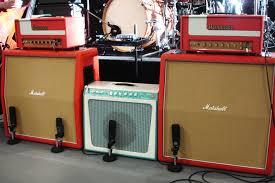 red marshall amp