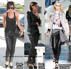 designer leather trousers