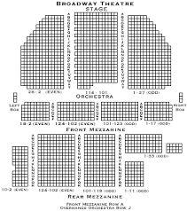 broadway theatre seating