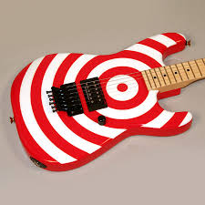 red and white guitars