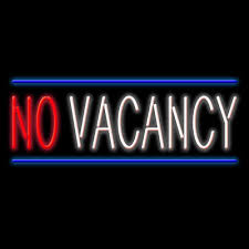 no vacancy signs