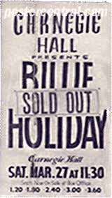 billie holiday carnegie hall