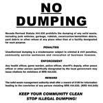no dumping signs