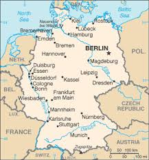 map of germany in german