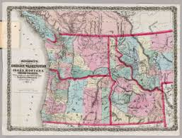 map of washington and idaho