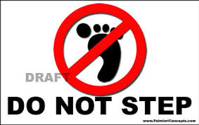 do not step sign