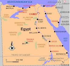 climate map of egypt