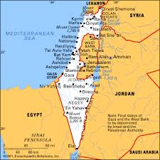 map of israel 2008