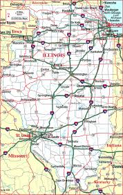 highway map of illinois