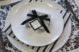 black and white decorations