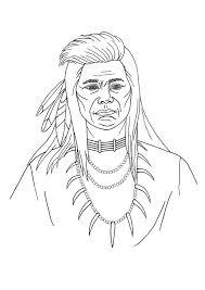ausmalbilder indianer