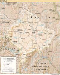 kosovo on map