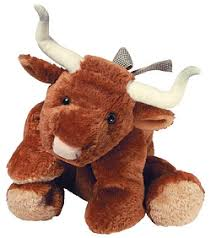 stuffed animal bull