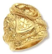 gold chain ring