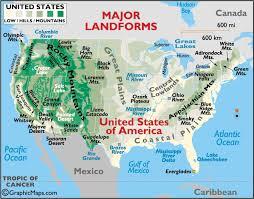 landform maps of the united states