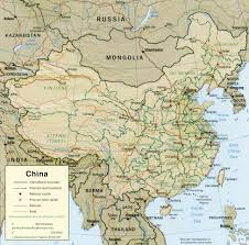 picture of a map of china
