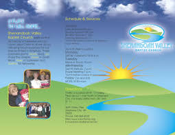 church brochures