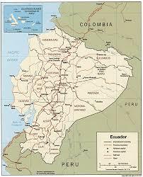 mapa geografico de ecuador