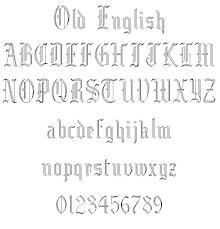 old english alphabet fonts