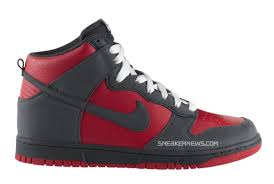 nike dunks high red