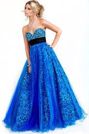 blue sequin prom dress