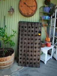 leaning wine rack