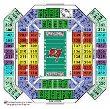 raymond james stadium seat chart