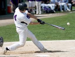 hitting the baseball