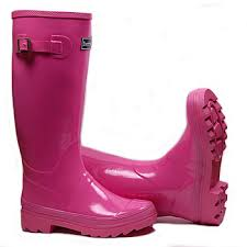 pink wellingtons