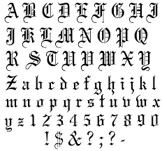 old english alphabet letter
