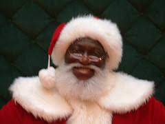 black santa clause