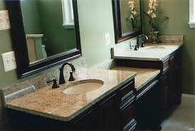 granite countertop bathroom