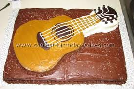 guitar shaped birthday cakes