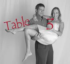 reception table number